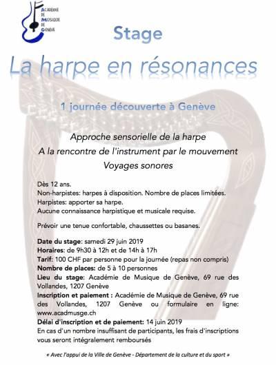 Stage de harpe 2019, Genève